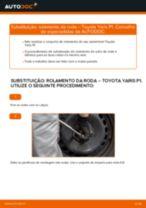 Tutorial passo a passo em PDF sobre a substituição de Rolamento da Roda no TOYOTA YARIS (SCP1_, NLP1_, NCP1_)
