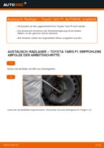 TOYOTA YARIS (SCP1_, NLP1_, NCP1_) Koppelstange wechseln vorne links Anleitung pdf