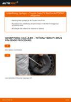 Skifte Hjulleje TOYOTA YARIS: værkstedshåndbog