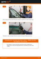 Como mudar escovas do limpa vidros da parte dianteira em BMW X5 E53 - guia de substituição