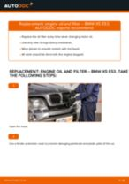 How to change engine oil and filter on BMW X5 E53 – replacement guide