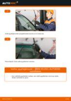 PDF vaihto-opas: Tuulilasinpyyhkimet BMW X5 (E53)