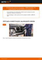 Como mudar pinças de travão da parte dianteira em BMW X5 E53 - guia de substituição