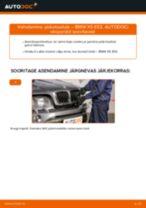 Kuidas vahetada BMW X5 E53 esi-pidurisadula – õpetus