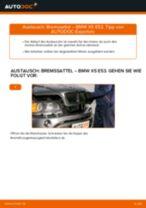 Auswechseln Bremsscheibe BMW X5: PDF kostenlos