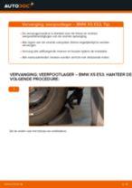 Hoe Schokbreker taatspot veranderen en installeren BMW X5: pdf handleiding