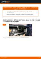 Comment changer : étrier de frein arrière sur BMW X5 E53 - Guide de remplacement