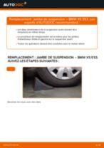 Comment changer et régler Amortisseur BMW X5 : tutoriel pdf