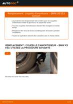 Comment changer : coupelle d'amortisseur avant sur BMW X5 E53 - Guide de remplacement