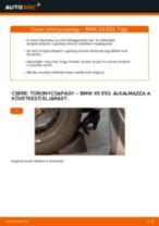 Elülső toronycsapágy-csere BMW X5 E53 gépkocsin – Útmutató