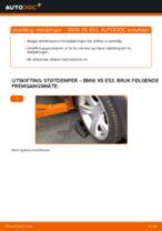 Hvordan bytte og justere Fjærbein BMW X5: pdf håndbøker