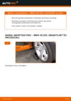 priekšā Amortizators nomaiņa BMW X5: tiešsaistes pamācības
