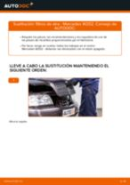 Cómo cambiar: filtros de aire - Mercedes W202 | Guía de sustitución
