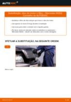 Como mudar óleo do motor e filtro em Mercedes W202 - guia de substituição