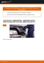 Wie Zündkerzensatz MERCEDES-BENZ C-CLASS tauschen und einstellen: PDF-Tutorial