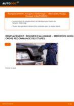 Comment changer : bougies d'allumage sur Mercedes W202 - Guide de remplacement