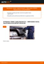 Zalecenia mechanika samochodowego dotyczącego tego, jak wymienić MERCEDES-BENZ Mercedes W202 C 250 2.5 Turbo Diesel (202.128) Klocki Hamulcowe
