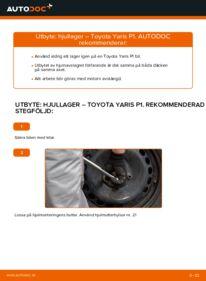 Så byter du Hjullager på 1.0 (SCP10_) Toyota Yaris p1