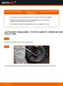 Wie der Wechsel durchführt wird: Radlager 1.0 (SCP10_) Toyota Yaris p1 tauschen