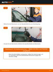 Wie der Wechsel durchführt wird: Scheibenwischer 3.0 d BMW E53 tauschen