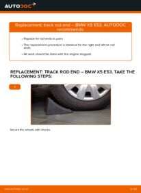 How to carry out replacement: Track Rod End on 3.0 d BMW E53