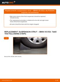 How to carry out replacement: Shock Absorber on 3.0 d BMW E53