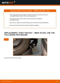 How to carry out replacement: Strut Mount on BMW X5
