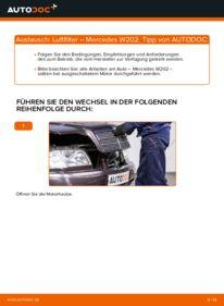 Wie der Wechsel durchführt wird: Luftfilter C 180 1.8 (202.018) Mercedes W202 tauschen