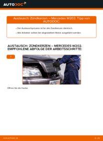 Wie der Wechsel durchführt wird: Zündkerzen C 180 1.8 (202.018) Mercedes W202 tauschen