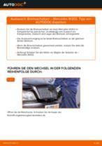 Installation von Scheibenbremsen MERCEDES-BENZ C-CLASS (W202) - Schritt für Schritt Handbuch