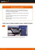Montage Disque de frein MERCEDES-BENZ C-CLASS (W202) - tutoriel pas à pas
