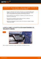 Cambio Juego de frenos de disco traseras y delanteras MERCEDES-BENZ bricolaje - manual pdf en línea