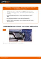 Hvordan bytte og justere Bremseskiver MERCEDES-BENZ C-CLASS: pdf håndbøker