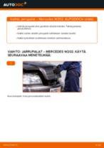 Vaihda MERCEDES-BENZ Takajarrupalat ja etujarrupalat itse - käsikirja verkossa