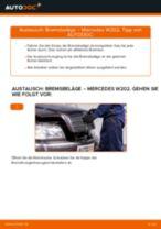 Wie Bremssteine hinten + vorne beim MERCEDES-BENZ C-CLASS (W202) wechseln - Handbuch online