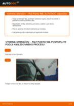 Ako vymeniť predné stierače na Fiat Punto 188 diesel – návod na výmenu