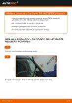 Kako zamenjati avtodel brisalce spredaj na avtu Fiat Punto 188 diesel – vodnik menjave