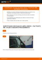 Como mudar escovas do limpa vidros da parte dianteira em Fiat Punto 188 diesel - guia de substituição