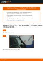 Kaip pakeisti Fiat Punto 188 dyzelis valytuvų: priekis - keitimo instrukcija