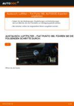 Wie Luftfiltereinsatz Auto Ersatz beim FIAT PUNTO (188) wechseln - Handbuch online