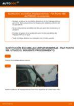 Cómo cambiar: escobillas limpiaparabrisas de la parte delantera - Fiat Punto 188 diésel | Guía de sustitución