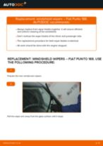 How to change front windshield wipers on Fiat Punto 188 diesel – replacement guide