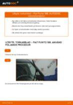 Byta torkarblad fram på Fiat Punto 188 diesel – utbytesguide