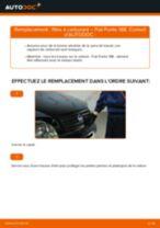Changement Kit de Réparation Étrier de Frein FIAT PUNTO : manuel d'atelier