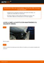 Cambio Filtro de Combustible gasolina FIAT PUNTO: tutorial en línea