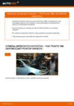 Výmena Brzdový kotouč FIAT PUNTO: dielenská príručka