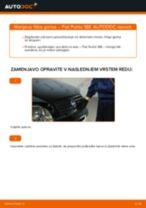 Kako zamenjati avtodel filter goriva na avtu Fiat Punto 188 diesel – vodnik menjave