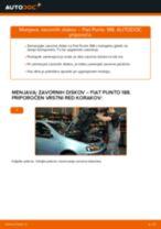 Kako zamenjati avtodel zavorni diski spredaj na avtu Fiat Punto 188 diesel – vodnik menjave