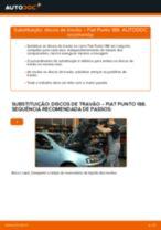 Como mudar discos de travão da parte dianteira em Fiat Punto 188 diesel - guia de substituição