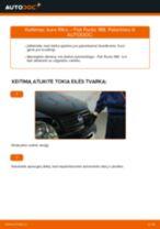 Kaip pakeisti Fiat Punto 188 dyzelis kuro filtro - keitimo instrukcija